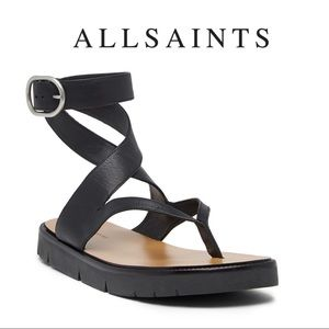 NWT🌺All saints Leather Sandals